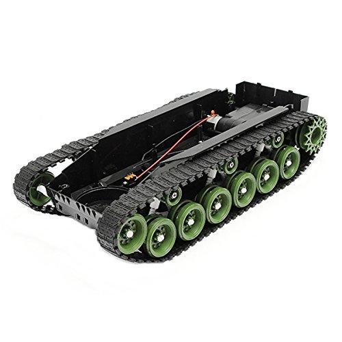 Bluelover 3V-9V Diy Schock Absorbiert Smart Roboter Tank Chassis Car Kit Mit 260 Motor Für Arduino Scm (Roboter-diy)