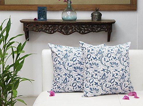 Regali giorno padre, Set di 2 cuscini in puro cotone stampato floreale tiro federa casa Divano
