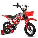 Kinder Motorrad Fahrrad Junge Baby Wagen Kinder Mountainbike 12 Zoll ( Farbe : Rot )