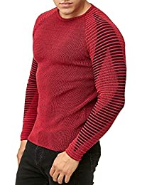 84c3eb2836 Red Bridge Men's Crew Neck Pullover Basic Sweater Ribbed Casual Knitted  Jumper