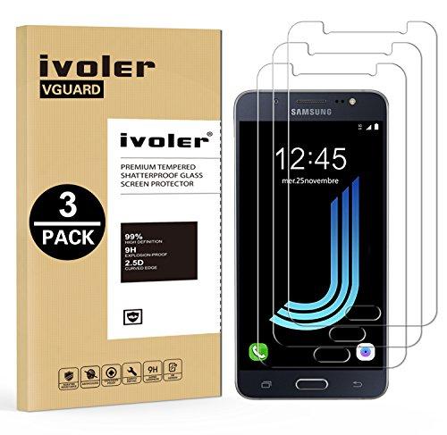 iVoler [3 Stücke] Samsung Galaxy J5 2016 Panzerglas Schutzfolie, 9H Härte, Anti- Kratzer, Bläschenfrei, [2.5D R&e Kante]