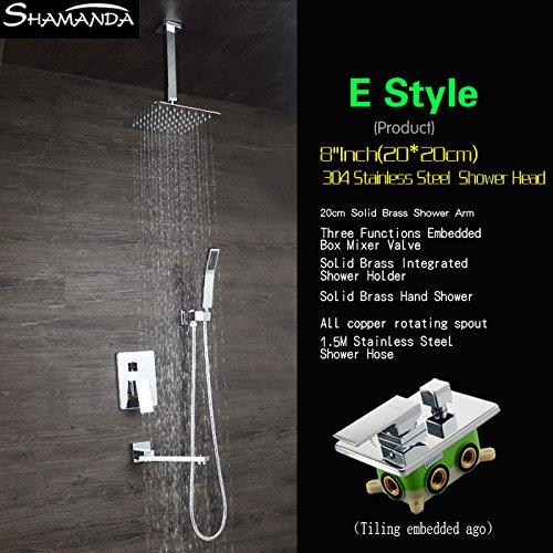 Luxurious shower Lujoso baño de latón grifo mezclador ducha Válvula mezcladora empotrables...