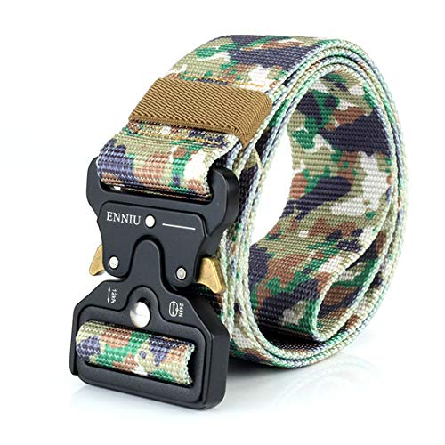 Yeying123 Tactical Belt Mens Military Nylon Waist Belt Mit Metal Buckle Adjustable Waistband Für Combat Equipment Army Training Outdoor Jagd,Camouflage4 (Training-equipment Combat)