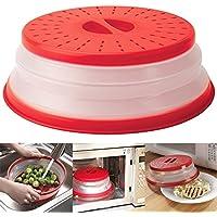lzndeal plegable Microondas protectora plegable placa Colador Colador No Tóxico para frutas verduras