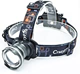 CrazyFire® 1600lm XM-L T6 LED Headlight 3 Modes Adjustable Zoomable Headlamp for Climbing Hunting Fishing Cycling Waterproof Head Torch