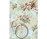 Carta Di Riso Tondo E Fiori, La Stamperia, A4, Decoupage Carte Di Riso, Hobby, Colori