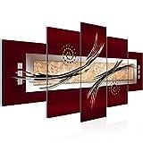 Bilder Abstrakt Wandbild 200 x 100 cm Vlies - Leinwand Bild XXL Format Wandbilder Wohnzimmer Wohnung Deko Kunstdrucke Braun 5 Teilig -100% MADE IN GERMANY - Fertig zum Aufhängen 103951a