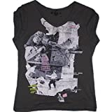 IKKS–Camiseta, antracita Romantic Rock