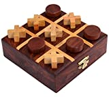 #10: ITOS365 Handmade Wooden Tic Tac Toe Game Gifts for Kids, 4.5 x 4.5 inches