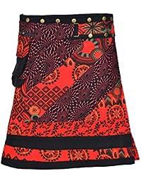 Wrap ronde Jupe Hippy Popper de Tattopani Mode Multicolor Femmes