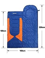 Cálido adulto al aire libre Camping engrosamiento de impermeable, cómodo con compresión bolsas, Gran 4temporada viaje, Camping, Senderismo y al aire libre Sacos de dormir