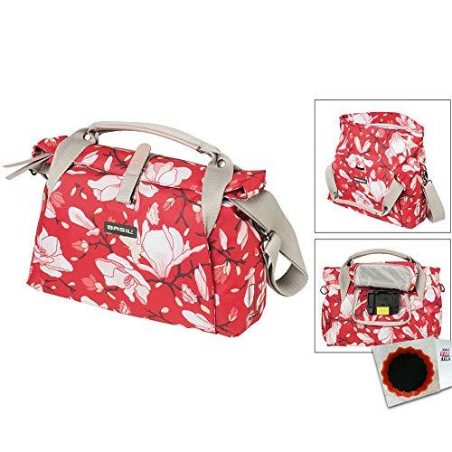 Basil Lenkertasche Magnolia City Bag Poppy red Fahrrad Tasche 7 Liter -