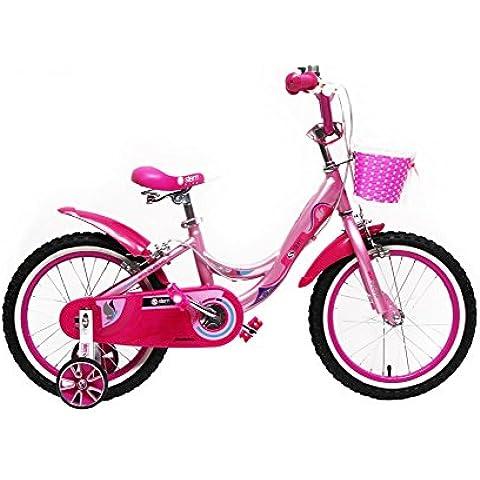 Bicicleta infantil 16pulgadas Niños Rueda de bicicleta parte (niña rosa rosa Stem Bike