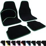 Universal Auto Fußmatten Teppich Autoteppiche Stoffmatten Grün AM7137