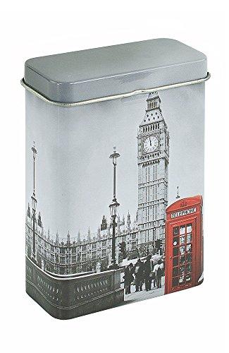 Zigarettenbox Metall - Motiv Big Ben - f. 30 Lange Zigaretten 30-iger Box - 3 Stück -