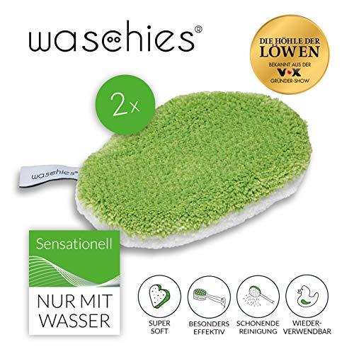 Waschies Kinder Waschpads Baby Waschlappen Mit Feinster Mikrofaser Wiederverwendbare Baby Pflege Tücher Für Sensible Haut, 2er-Set
