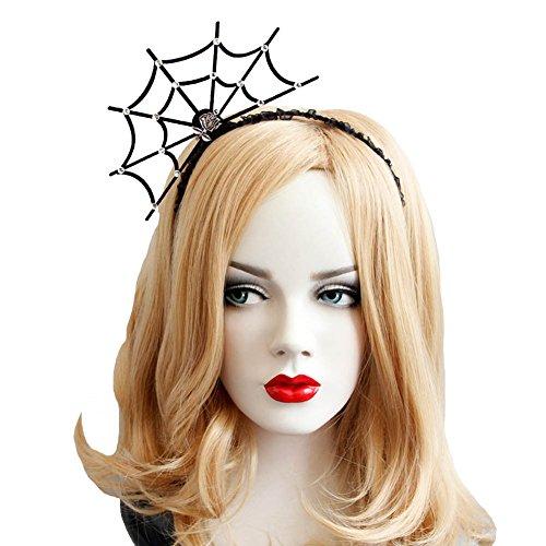 inne Stirnband- Neu Modisch Spinnen Web Kopf Band Kopfschmuck Hallowmas Party Geschenk 80Store (Schwarz #2) (Halloween-hut Stirnbänder)