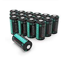 RAVPower CR123A 3V Lithium Batterien 16-Pack, 1500mAh jeweils, 10 Jahre Haltbarkeitsdauer für Arlo Kameras, Polaroidkameras, Taschenlampen, Mikrofone und mehr