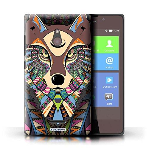 Kobalt® Imprimé Etui / Coque pour Nokia XL / Tigre-Rouge conception / Série Motif Animaux Aztec Loup-Couleur