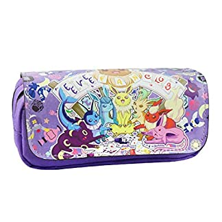Estuche para lápices de Pokemon con 2 compartimentos para niños Craze UK Eevee Evolutions