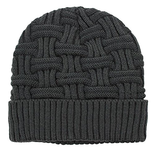 Zhhlaixing Fashion Outdoors Unisex Knitting Cap Autumn Winter Warmth Crochet chapeau 1098 gray