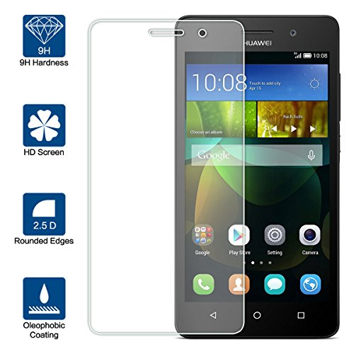 Beiuns Vidrio Templado Protector de Pantalla para Huawei G Play Mini (Honor 4C) (5 Pulgadas)