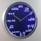nc0461-b Math Class Algebra Formula Mathematics Teacher gift Neon LED Wall Clock Uhr Leuchtuhr/ Leuchtende Wanduhr