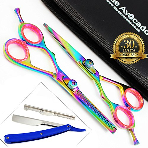 left-handed-titanium-hair-scissors-and-hair-thinning-scissors-set-extremely-sharp-55-inch-shaving-ra