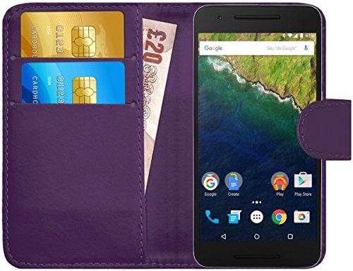 G-Shield Hülle für Google Nexus 6P Klapphülle mit Kartenfach - Lila