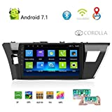 WSJS Autoradio Bluetooth Compatibile con Toyota Corolla Android Toyota 2014 2015 2016 10 Pollici Touch Screen unità di Navigazione GPS WiFi,Highversion