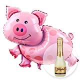 Helium Ballon Glücksschweinchen und Freixenet Semi Seco