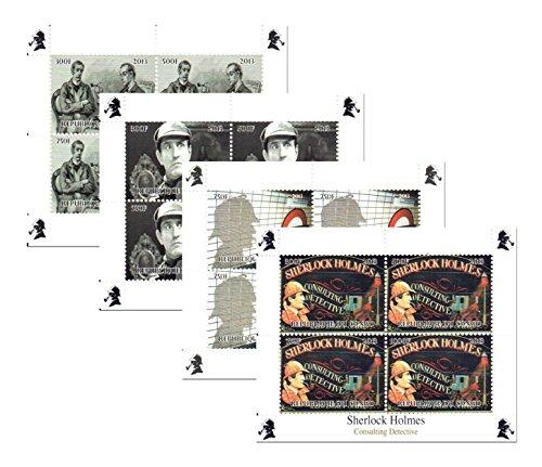 Sherlock Holmes Briefmarken für Sammler-4mint nie aufklappbaren Miniatur Blocks Ausgestellt 2013/Kongo/ungefasst