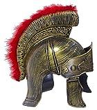 Römer Helm mit Visier und Federbesatz - Zum Gladiatoren Kostüm für Party und Fasching