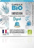 Capsule d'infusion BIO - Infusion Digest BIO - 10 capsules compatibles Nespresso - Capsule biodégradable, compostable- Fabriqué en France