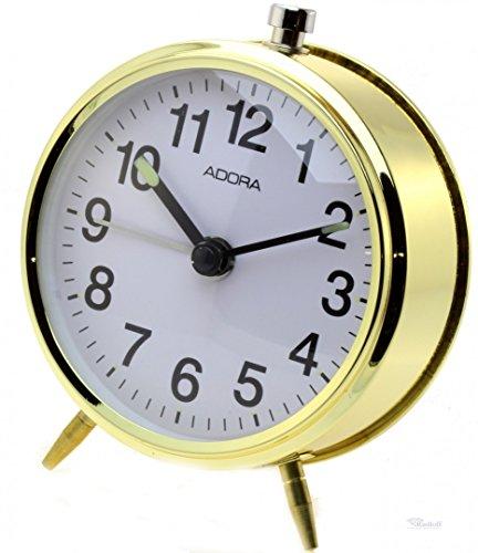 Wecker klassischer mechanischer Wecker Alarm Clock zum Aufziehen 846gold Adora