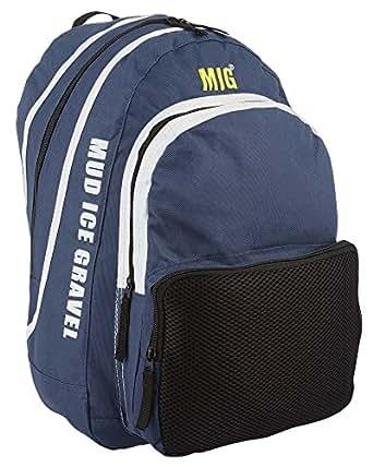Mens Blue Backpack Rucksack Bag With Bottle Holders - Sports School Hiking Fishing Camping Work