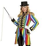 shoperama Hochwertige Rainbow Damen Uniformjacke Regenbogen Gardeuniform Gehrock Jacke Mantel Frack Karneval Kostüm, Größe:M