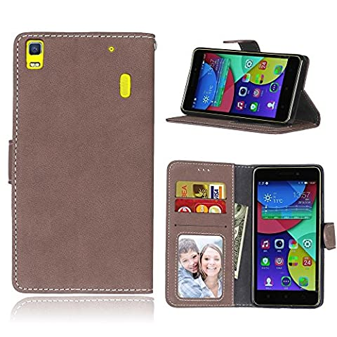 Lenovo A7000 /K3 Note Case,BONROY® Lenovo A7000 /K3 Note Retro Matte Leather PU Phone Holster Case, Flip Folio Book Case, Wallet Cover with Stand Function, Card Slots Money Pouch Protective Leather Wallet Case for Lenovo A7000 /K3 Note