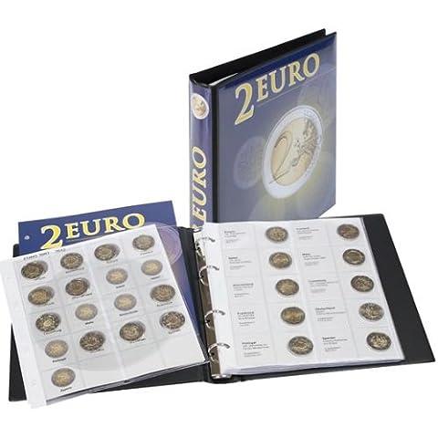 Lindner 1118M Album pre-impreso para monedas de 2 Euros conmemorativas: todos países del Euro (cronológico de España 2012)