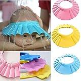 Zollyss Baby Bath Shower Cap Hat Wash Hair Shield-Blue