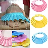 #9: Zollyss Baby Bath Shower Cap Hat Wash Hair Shield-Blue
