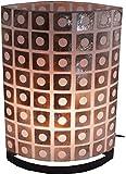 Guru-Shop Tischlampe/Tischleuchte Namuno 30cm, 40cm, Set - in Bali Handgemacht aus Naturmaterial, Capiz/Perlmutt, Muschelscheiben, Größe: Set, Oceanlights Muschelleuchten