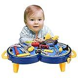 Smibie Werkzeugkoffer Spielzeug für Kinder viele Zubehör Mini Plastik Werkzeuge Werkzeugkasten Set f¡§?r Kinder