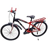 Global Bikes Grand Single Speed 26T Bicycle with Carrier (26T,Carrier)