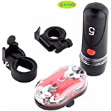 BabyGo 1 Set Waterproof 5 LED White Bike Cycling Front Headlight Flashlight +9 LED Red Bicycle Rear Lamp Back Taillight Combo