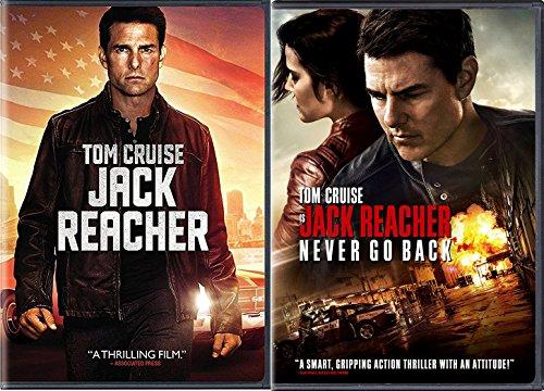 Tom Cruise Jack Reacher Double Feature DVD + Jack Reacher: Never Go Back Movie Bundle
