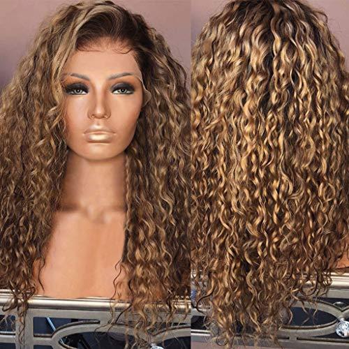 TianWlio Perücken DamenSexy Frauen Mode Afro Lange Verworrenes Lockiges Haar Wellenförmige Perücken Lace Front Perücke Party Perücke