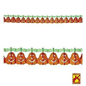WIDMANN?Guirnalda Calabaza Unisex-Adult, Naranja, 4m, vd-wdm95735