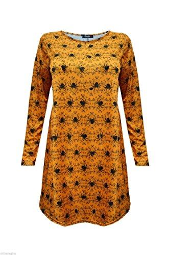 FK Styles Damen Body Con Dress Gr. Medium, Spider Orange