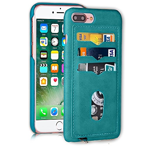 iPhone Case Cover IPhone 7 Plus Abdeckungs-Fall, präzise Öl-Leder-harte rückseitige Abdeckung mit Einbauschlitzen Dreieck-Ring für Apple IPhone 7 Plus ( Color : 5 , Size : IPhone 7 Plus ) 2